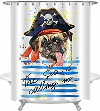 N / A Dog Shower Curtain for Animal Lovers
