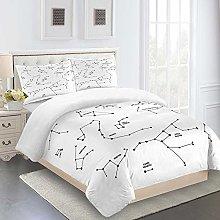 N / A Duvet Cover Set 3D Simple White Duvet Cover