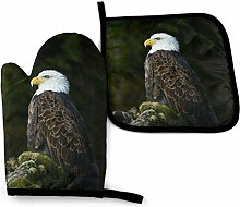 N\A Eagle White Oven Mitts and Pot Holders Sets,