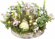 N/A/ Easter Egg Natural Plant Flower Wreath Candle