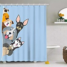 N / A Fabric Shower Curtain for Kids Boys Girls