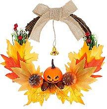 N\A Fall Wreath Decoration, 14 inch Artificial