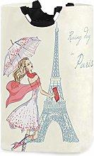 N\A Fashion Girl Rainy Day Paris Eiffeil Tower