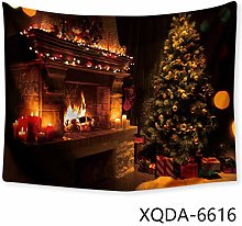 N/ A Fireplace and gifts Christmas tree decoration