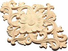 N\A Flower Pattern Door Furniture Cabinet Decal