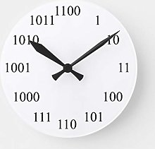 N/ A Geeky Binary Number System Round Clock