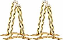 N/A Golden 7 Inch Furniture Feet Heavy Duty
