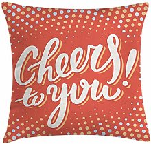 N\A Graduation Throw Pillow Cushion Cover, Cheers