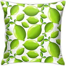 N\A Green Oval Fruit Pillow Covers Decorative Square Pillowcase Soft Solid Cushion Case for Sofa Bedroom Car