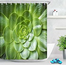 N / A Green Succulents Flower Polyester Fabric