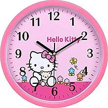 N \ A Hello Kitty Wall Clock Pink Cute Cartoon