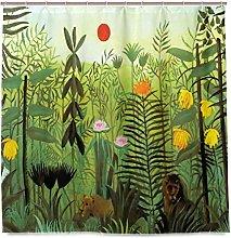 N/A Henri Rousseau Exotic Shower Curtain 72x72