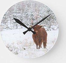 N/ A Highland Cattle Clock