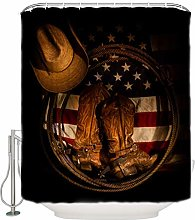 N\A Home American Flag Hat Boot Shower