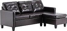 N\\A Indoor modular sofa PU solid wood L-shaped