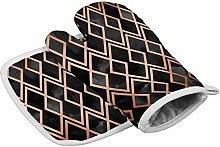 N/A Insulation gloves Copper & Black Geo Diamonds