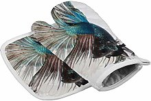 N/A Insulation gloves Fighting Fish Colorful