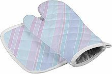 N/A Insulation gloves Striped Light Pastel Color