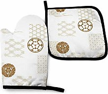 N\A Japan Gold Geometry Japan Oven Mitts and