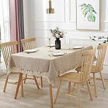 N/A JINYUAN Rectangle Tablecloth Solid Color