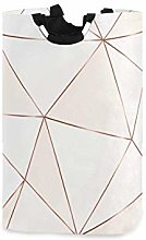 N\A Laundry Hamper, Abstract Geometric Pattern