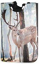 N\A Laundry Hamper, Forest Tree Animal Deer