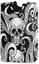 N\A Laundry Hamper, Skull Ocean Sea Octopus