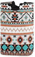 N\A Laundry Hamper, Tribal Ethnic Aztec Geometric
