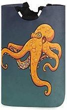 N\A Laundry Storage Basket Orange Octopus Laundry