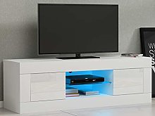 N / A LED TV Stand Cabinet with High Gloss Door