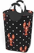 N\A Lobster Seamless Pattern Laundry Hamper Basket