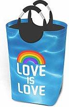 N\A Love is Love Rainbow Laundry Hamper Basket