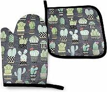 N\A Lovely Llamas Cactus Hoedown Gray Xmas Oven