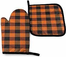 N\A Lumberjack Lattice Scotland Orange Black Oven