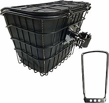 N / A LXLIGHTS Bike Basket, Folding Bicycle Cart