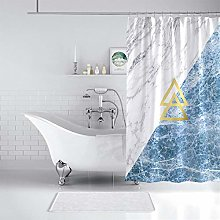 N / A Marble Geometric pattern Shower Curtains