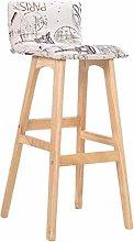 N / A Melody Home bar stool, pattern linen pillow