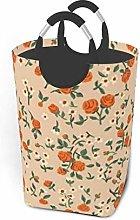 N\A Orange Flower 50l Large Laundry Basket with