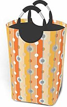 N\A Orange Stripes 50l Large Laundry Basket with