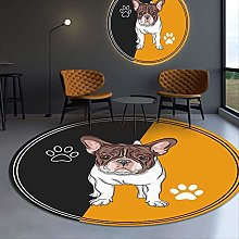 N\A Pet Dog Round Rug, Computer Chair Cushion,