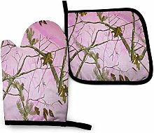 N\A Pink Realtree Camo Oven Mitt Cooking Gloves