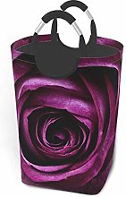 N\A Purple Flower Beautiful Laundry Basket with