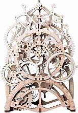 N / A ROKR 3D Wooden Model Kits Gear Clock - Laser
