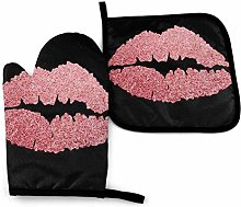 N\A Rose Gold Luxury Lips Oven Mitts and