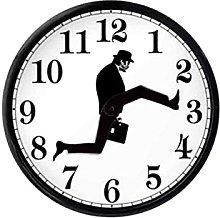N\ A Round Wall Clock, Modern Tick-free Quartz