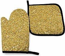 N\A Seamless Gold Glitter Texture Shimmer Oven