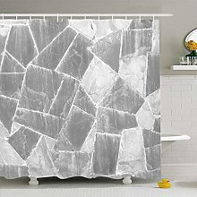 N\A Shower Curtain Set with Hooks Shale Old