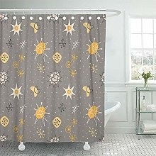 N\A Shower Curtain Waterproof Decorative Gray
