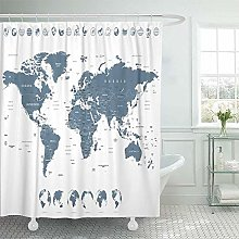 N\A Shower Curtain Waterproof Polyester Fabric