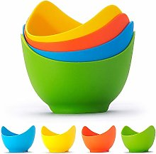 N \ A Silicone Egg Poacher Cups, 4 Pack Poached